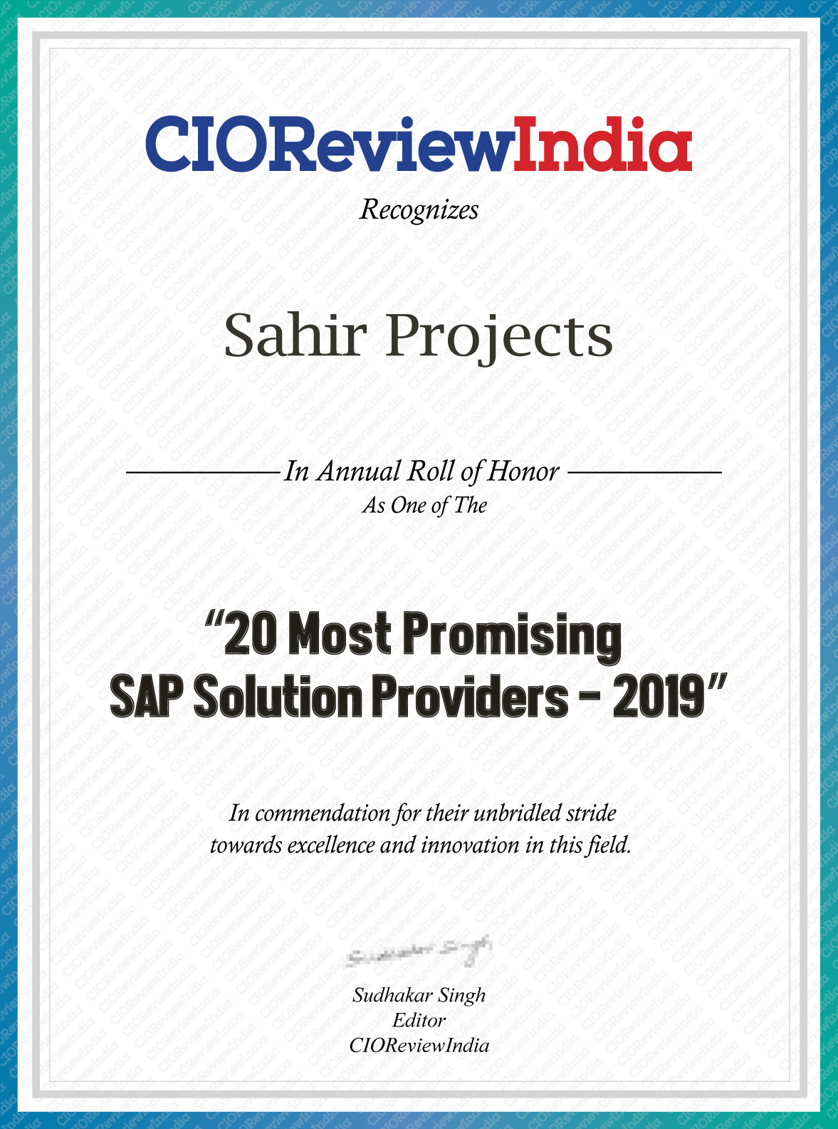Most Promising SAP Solution Provider